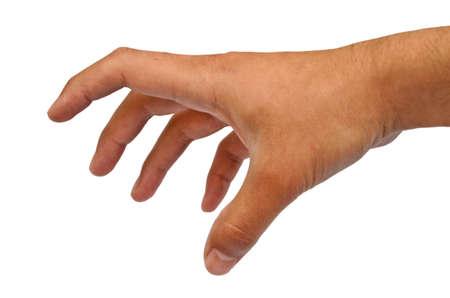 grabbing: Hand grabbing pose