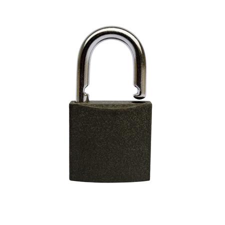 unlocked: Unlocked black padlock