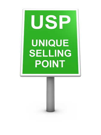 selling: Unique selling point sign board