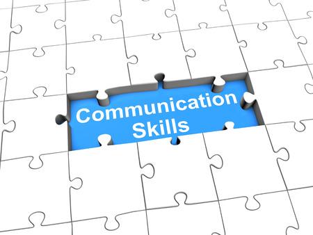 コミュニケーション ・ スキルをパズルします。