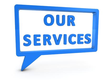 Onze Diensten Stockfoto