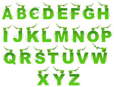 green nature: Green Nature English Alphabets