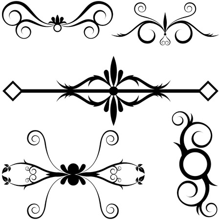 with sets of elements: Various decorative Design Elements Stock Photo