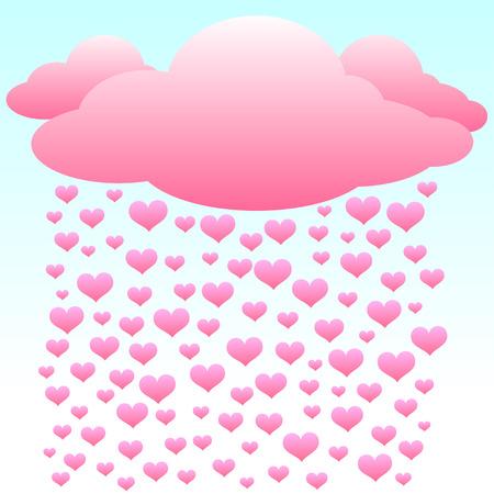 love hearts: Hearts Love Rain