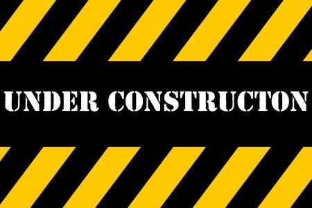 Under construction banner Banque d'images