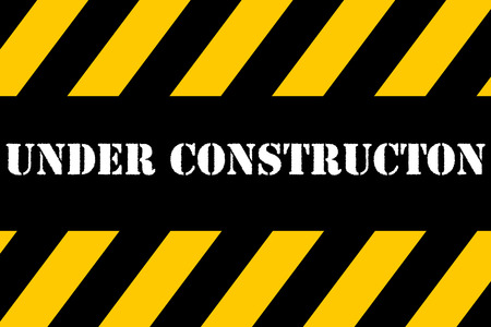 Under construction banner Stock Photo