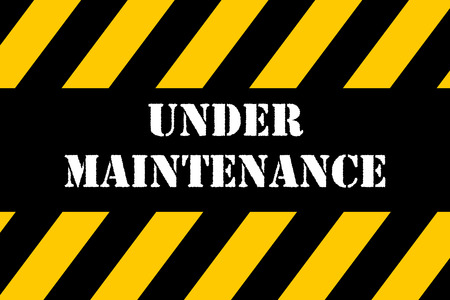 Under Maintenance banner Stock Photo