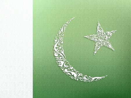pakistani: Pakistani Flag ornamental design Stock Photo