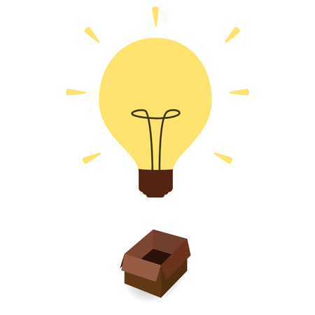 thoughtfulness: Think out of box concept