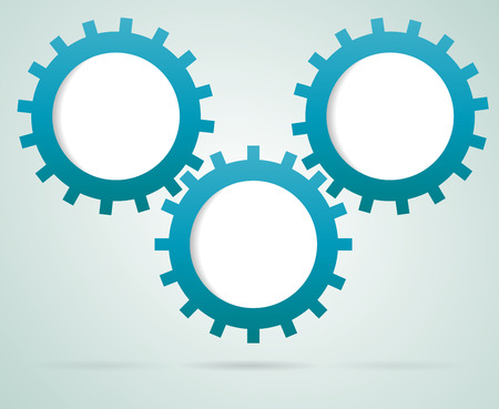 infograph: Gears working together infograph Stock Photo