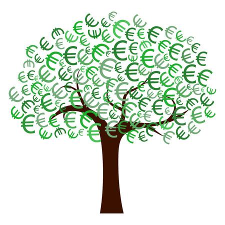 dinero euros: Euro Árbol Foto de archivo