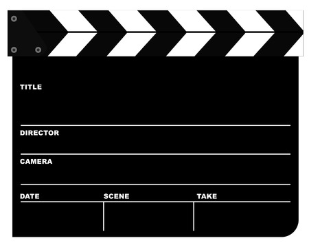 clapper board: Movie Clapper Board