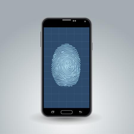 Fingerprint on smartphone