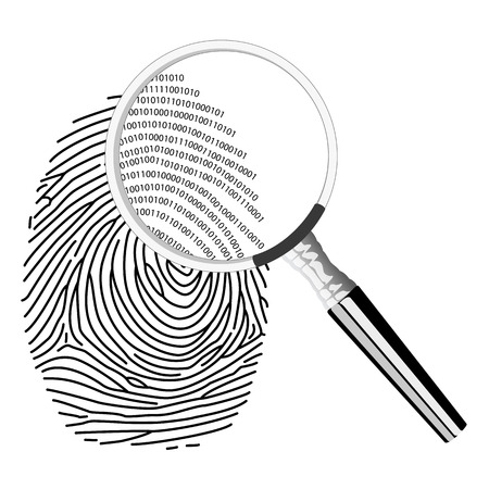 fingerprinting: Digital fingerprinting Stock Photo
