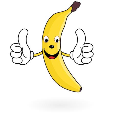 platano caricatura: Plátano feliz