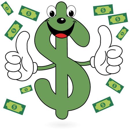 dollar symbol: Happy Dollar symbol Stock Photo