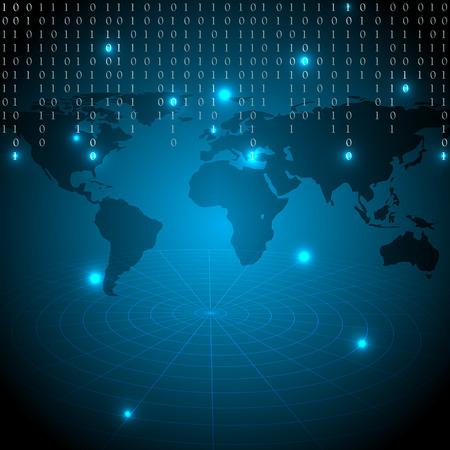 Digital world background