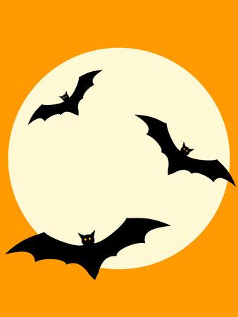 vampire cartoon: Halloween Bats