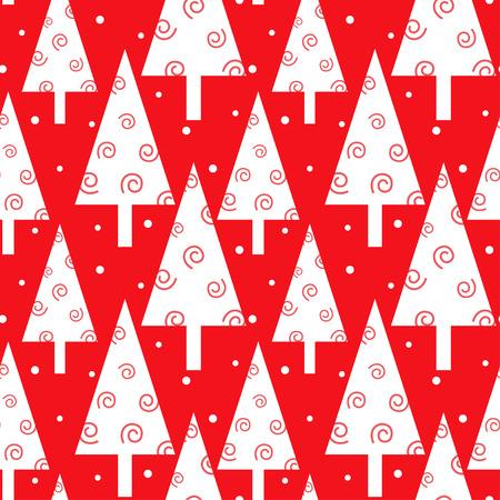 Red Christmas bomenpatroon