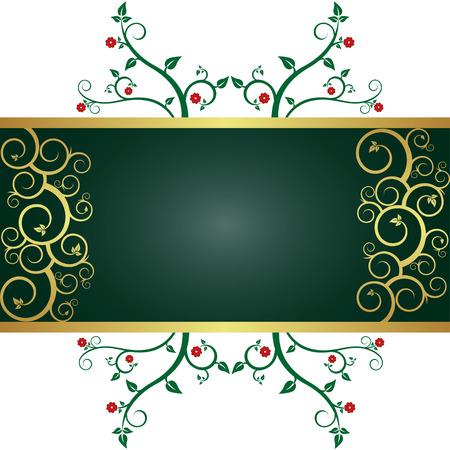 ornamental background: Floral ornamental background