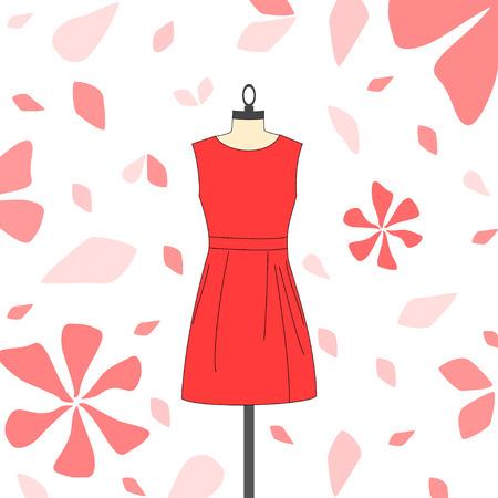 short dress: Womens short red dress