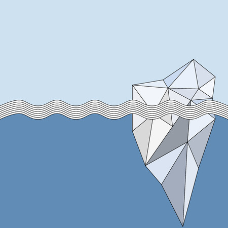 Geometric Iceberg background