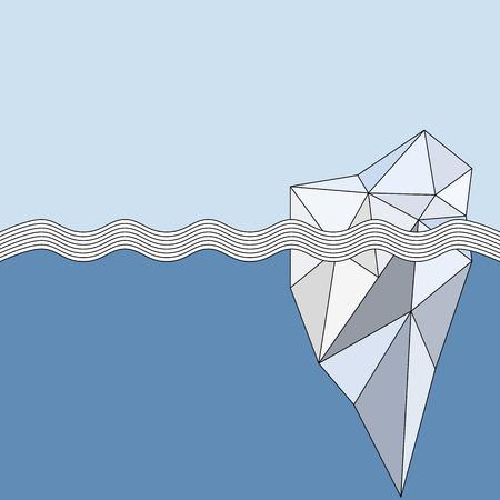 Geometrische Iceberg achtergrond Stockfoto