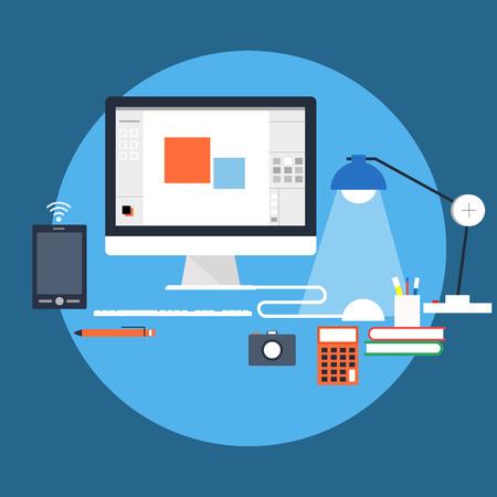 workstation: Workstation Stock Photo