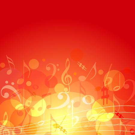 simbolos musicales: color de fondo de fuego temáticos de la música