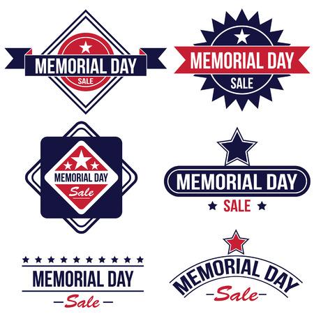 the memorial: Memorial day sale badges