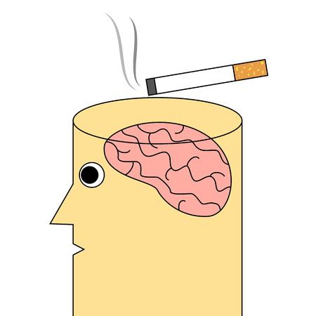 addiction: Cigarette addiction concept