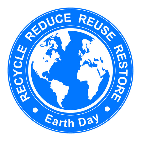 eco slogan: Earth day illustration
