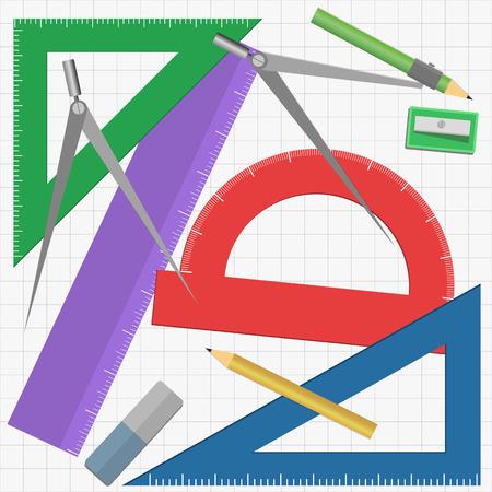 geometry: Geometry instruments Stock Photo