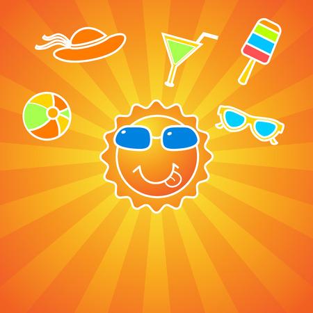 summer fun: Summer fun activities background