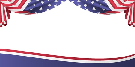 nationalism: USA patriotic flag bunting banner