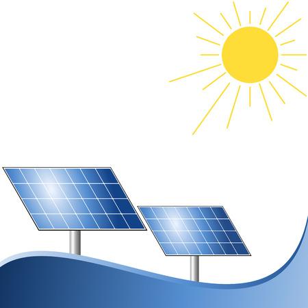 harnessing: Solar energy panels Stock Photo