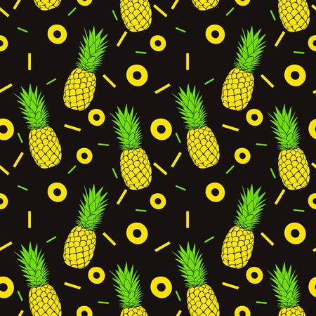 pineapple: Seamless pineapples pattern