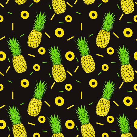 pineapple slice: Seamless pineapples pattern