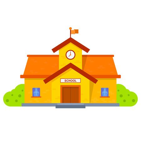 escuela caricatura: Edificio de la escuela ilustraci�n
