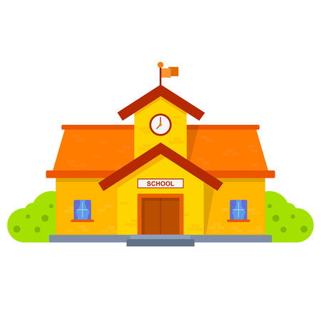 preschools: School building illustration