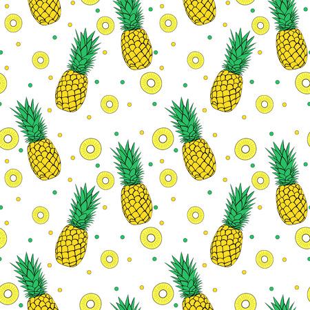 Naadloos ananas patroon