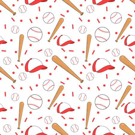 Seamless baseball pattern Stock Photo