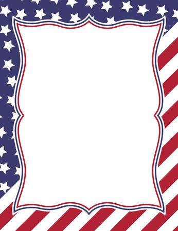 American themed frame design Banque d'images