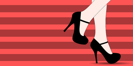 girls feet: Women shoes fashion banner