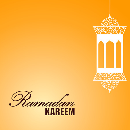 themed: Ramadan themed orange illustration Stock Photo