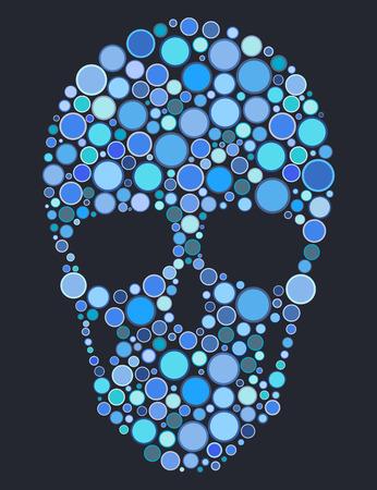 cranium: Skull of blue circles