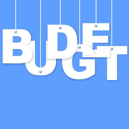 expense: 3d Budget paper cut word
