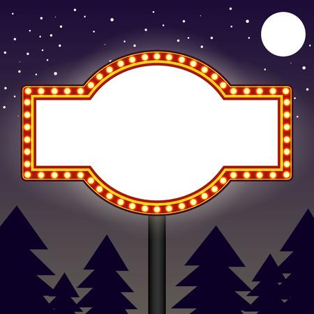 Marquee gloeilampen billboard