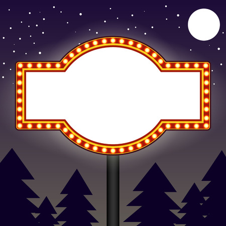 marquee: Marquee light bulbs billboard Stock Photo