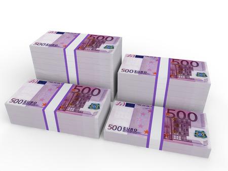 billets euros: Les piles de billets en euros Banque d'images